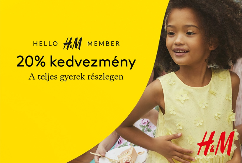 H&M: 20% off at kids department