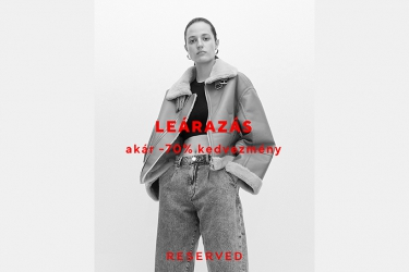 Reserved sale: up to 70% off