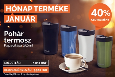 In January we have a promo campaign for a thermos from Aladdin with 40% discount for KitchenShop Club.